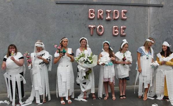 Toilet Paper Dress Bridal Shower Game Bridal Shower 101