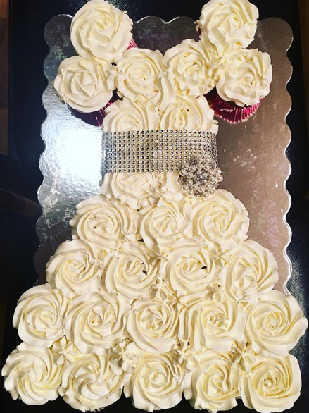 Bridal Shower Cupcake Dress 1
