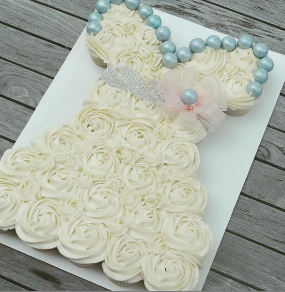 Bridal Shower Cupcake Dress 2