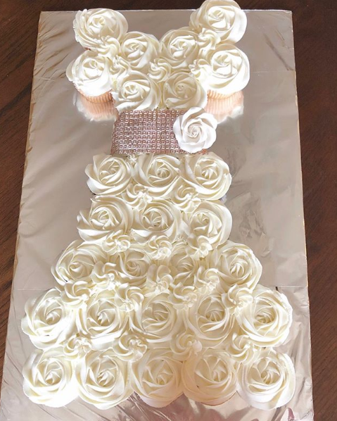 Bridal Shower Cupcake Dress 4