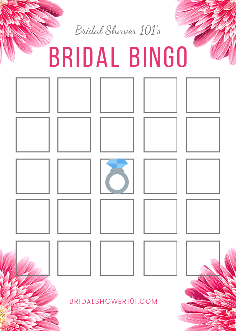 photograph regarding Bridal Shower Bingo Free Printable identify Bridal Shower Bingo With Absolutely free Printable Bridal Shower 101