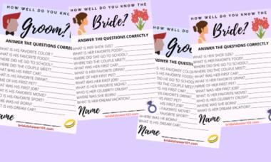 bridal shower trivia questions