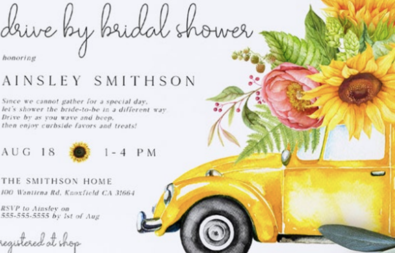 Drive By Bridal Shower Invitations Bridal Shower 101