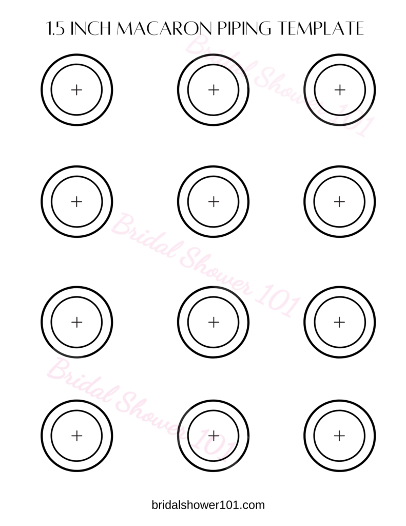 Free Printable Macaron Template And Piping Outline Pdf Bridal Shower 101